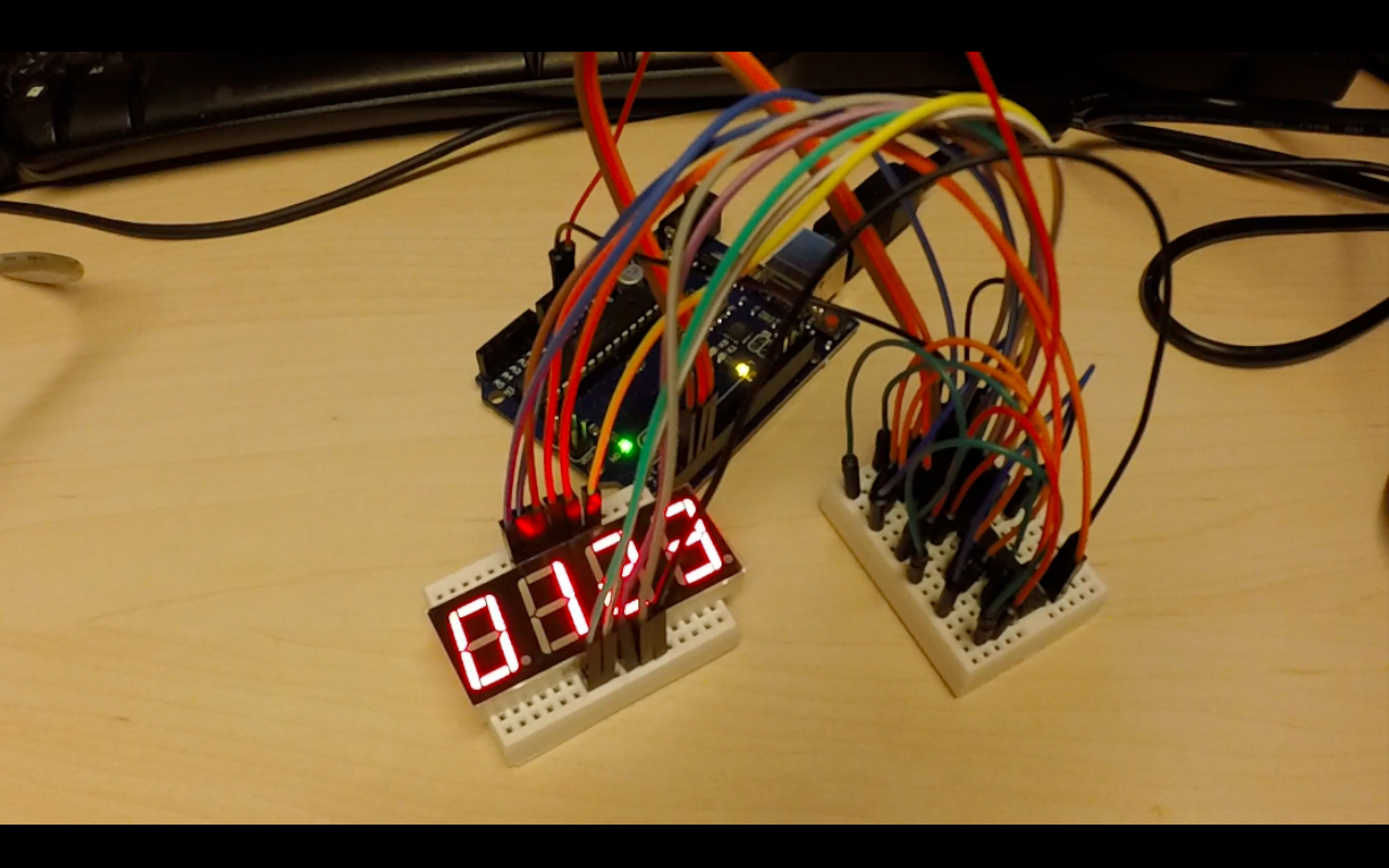 Picture of the circuit made in Anything Arduino Episode 22.